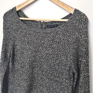 AEO crew neck sweater with zipper on back M